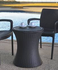 cool bar furniture. Amazon.com : Keter 7.5-Gal Cool Bar Rattan Style Outdoor Patio Pool Cooler Table, Brown Wicker Garden \u0026 Furniture