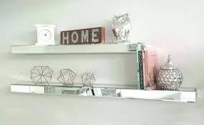 floating mirror wall shelves mirrored shelf fresh ideas remarkable furniture minimalist