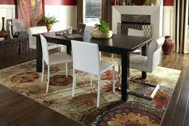 best kitchen table rugs area for dining carpet under cream room rug decorative round mat din