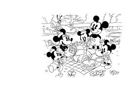Kleurennu Mickey En Zijn Vrienden Picknick Kleurplaten