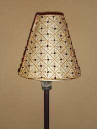 Clip On Light Shade Mini Clip On Lamp Shade Ivory Fabric Gold Trim Beading Bombay Chandelier