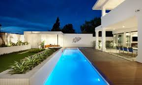 Image Backyard Homedit The Benefits Of Lap Pools And Their Distinctive Designs