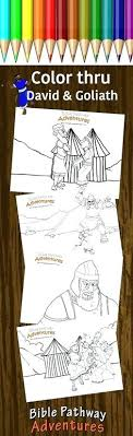 And Coloring Page Bible Coloring And Coloring Page David And Goliath