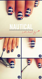 Nails Cute And Simple Nautical Nails On We Heart It