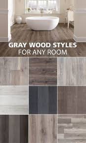 get the wood look feel in any room here are some of our favorite gray wood look styles varying from waterproof flooring to solid hardwood