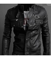 men s casual leather jacket men s jackets