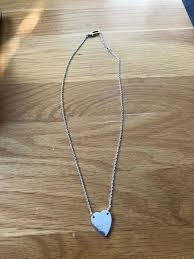 gucci necklace and heart pendant