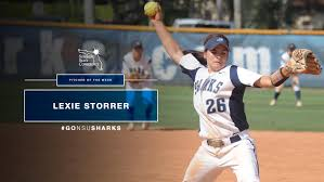 storrer d ssc softball pitcher of the week nsu newsroom nova southeastern university s lexie storrer was d sunshine state conference softball pitcher of the week for the week ending mar 19 2017