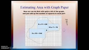 Estimating Area Perimeter Of Object With Graph Paper Pap Youtube
