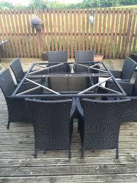homebase argos bali 8 seater rattan effect patio furniture set