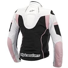 motorcycle gear woman stella t gp plus r air black white pink alpinestars leather