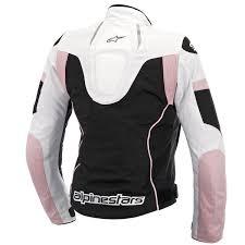motorcycle gear woman stella t gp plus r air black white pink alpinestars leather