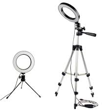 Ring Light Tripod For Iphone Dimmable Led Studio Camera Ring Light Photo Mobile Phone