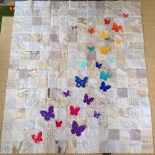 Swarm - A Butterfly Rainbow Quilt | Blossom Heart Quilts & Rainbow low volume butterfly quilt Adamdwight.com