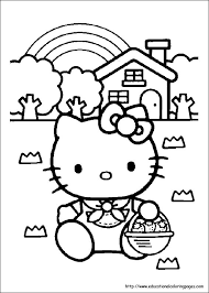 Small Picture Hello Kitty Coloring Pages free For Kids
