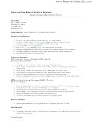 Free Sample Resumes Beauteous Construction Superintendent Resume Templates Golf Superintendent