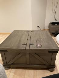 You will find it to be the perfect height for resting your. Signature Design By Ashley Aldwin Farmhouse Cocktail Table With Storage Walmart Com Walmart Com