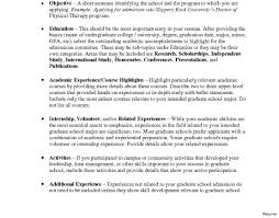 Grad School Resume Graduate School Admissions Resume Therpgmovie 80