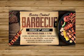 Bbq Flyer Barbecue Bbq Flyer Template Flyer Templates Creative Market 1