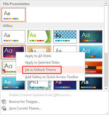 Powerpoint 2013 Template Location Change The Default Template Or Theme In Powerpoint 2013 For Windows