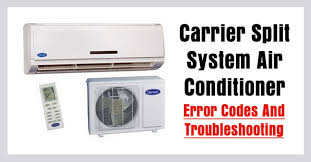 carrier split air conditioner ac error codes troubleshooting