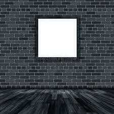 hanging picture on brick wall blank frame a stock ilration things shelves
