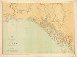 Southeast Alaska Nautical Charts Historical Nautical Chart Alaska Southeast Section Alaska Southeast Section