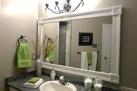 framing mirrors in bathroom crown molding for mirror framing fresh white vanity mirror bathroom mirror frame