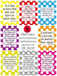 Dr Seuss Inspirational Quotes Impressive 48 Free Printable Motivational Inspirational Dr Seuss Quotes Free