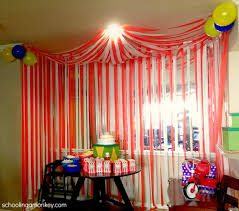 Homemade Circus Decorations Circus Party Diy Circus Tent In The Corner You Can See Me And