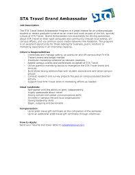 brand ambassador resume sample
