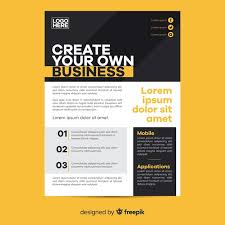 Create Business Flyer Geometric Business Flyer Template Flat Design Vector Free