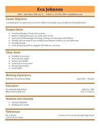 Babysitter Resume Sample Nanny Information Sheet Template Synonym ...
