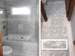 view larger image carrara tile bathtub white mosaic floor