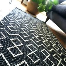black and white rugs for cotton runner rug inside black and white runner rug designs