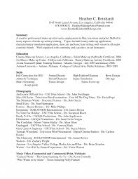 Makeup Artist Resume Objectives Example Enomwarbco Template Awesome