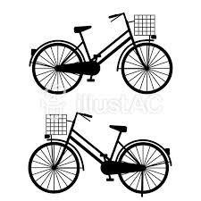 自転車 シルエット 右向き左向き イラスト No 1042193無料