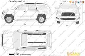 The-Blueprints.com - Vector Drawing - Toyota Sequoia