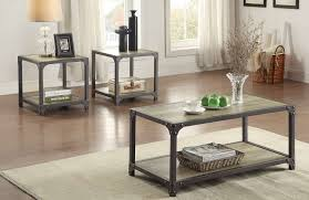 Metal Coffee Table Frame Homelegance Rumi Coffee Table Set Light Burnished Wood With