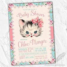 Office Baby Shower Invite Amazon Com Kitten Baby Shower Invitations Set Of 10