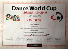 dance world cup brighton uk ioana andrei diploma dwc