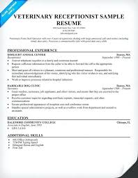 examples of receptionist resumes vet receptionist resume sample good example  of receptionist cv