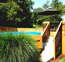 Above Ground Pool Landscaping Pinterest 54 best semi inground pools