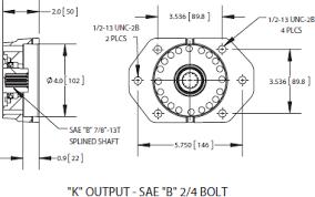 cs6 cs8 series power take off k output sae b