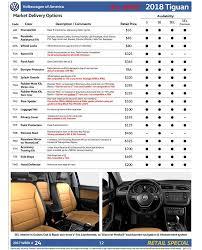 2018 volkswagen order guide. wonderful volkswagen 2018 vw tiguan order guide to volkswagen order guide g