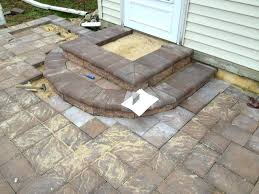 fascinating building stone patio steps diy paver patio steps