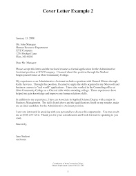 College Administrator Cover Letter 98 Images Cover Letter