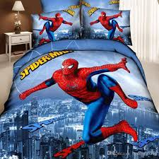3d superman bedding set spiderman bedding set for kids duvet cover bed sheet cartoon printed bedding sets twin queen king size white duvet covers red
