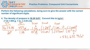 unit conversions worksheet answers chemistry practice problems compound unit conversions youtube