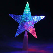 Celestial Lights Christmas Tree Topper Christmas Tree Topper Star Lightcolorful Changing Xmas Led